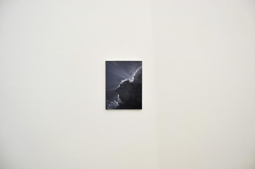 Moon, 2014 olio su tela 40 x 30