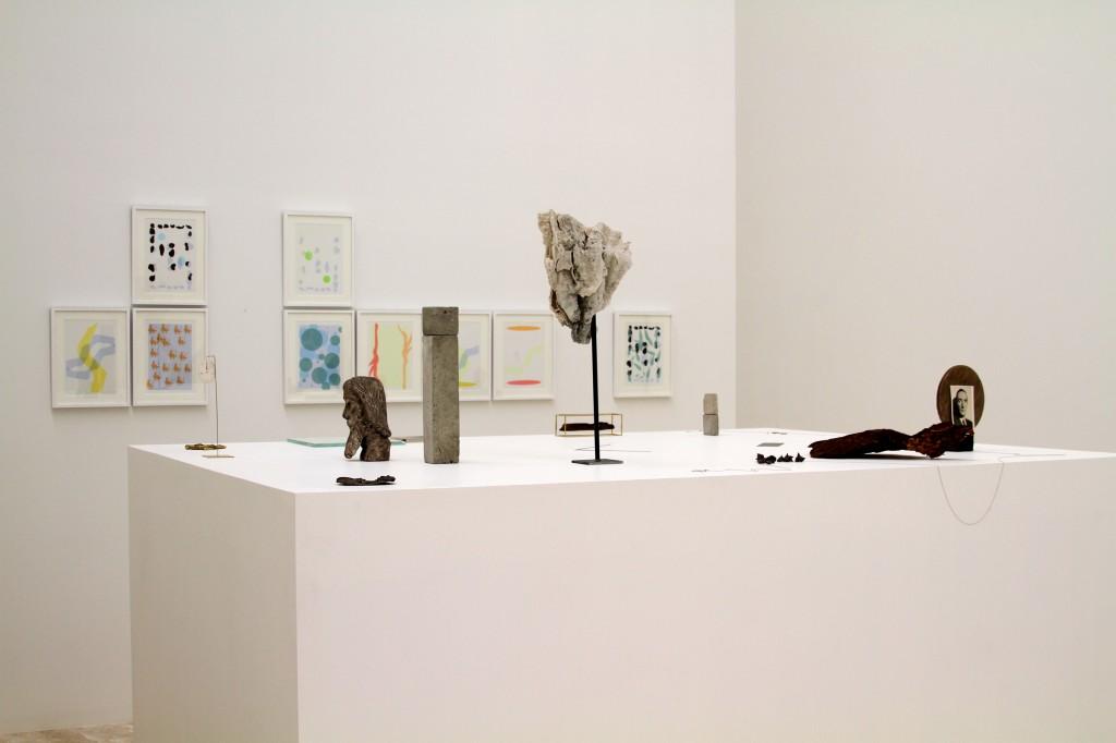 Installation shot, Un lugar en dos dimensiones: una selección de Colección Jumex + Fred Sandback, curated by Patrick Charpenel. Photo: Fundación Jumex Arte Contemporáneo